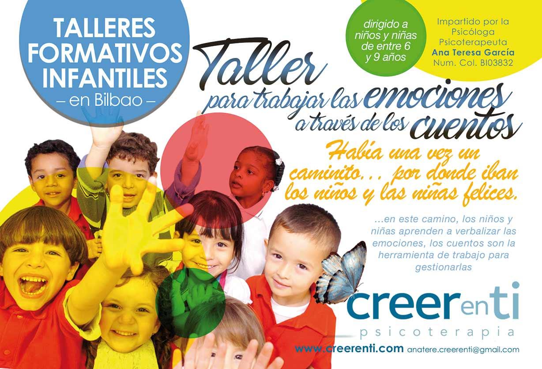 talleres formativos infantiles para trabajar las emociones a través de los cuentos en Bilbao