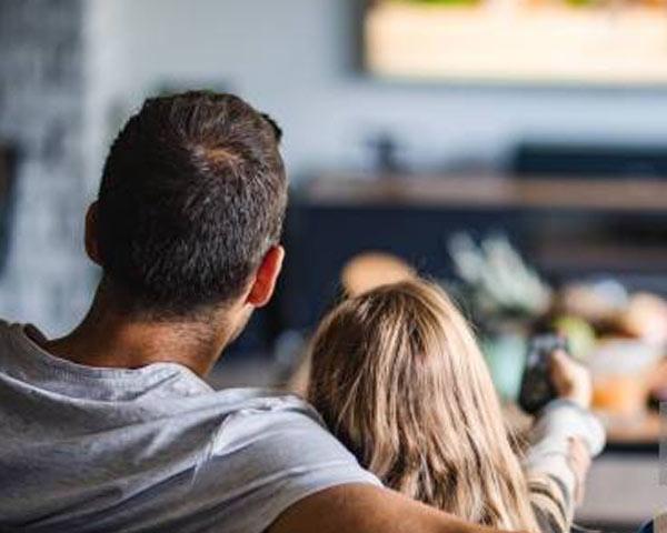 La tele en el salón